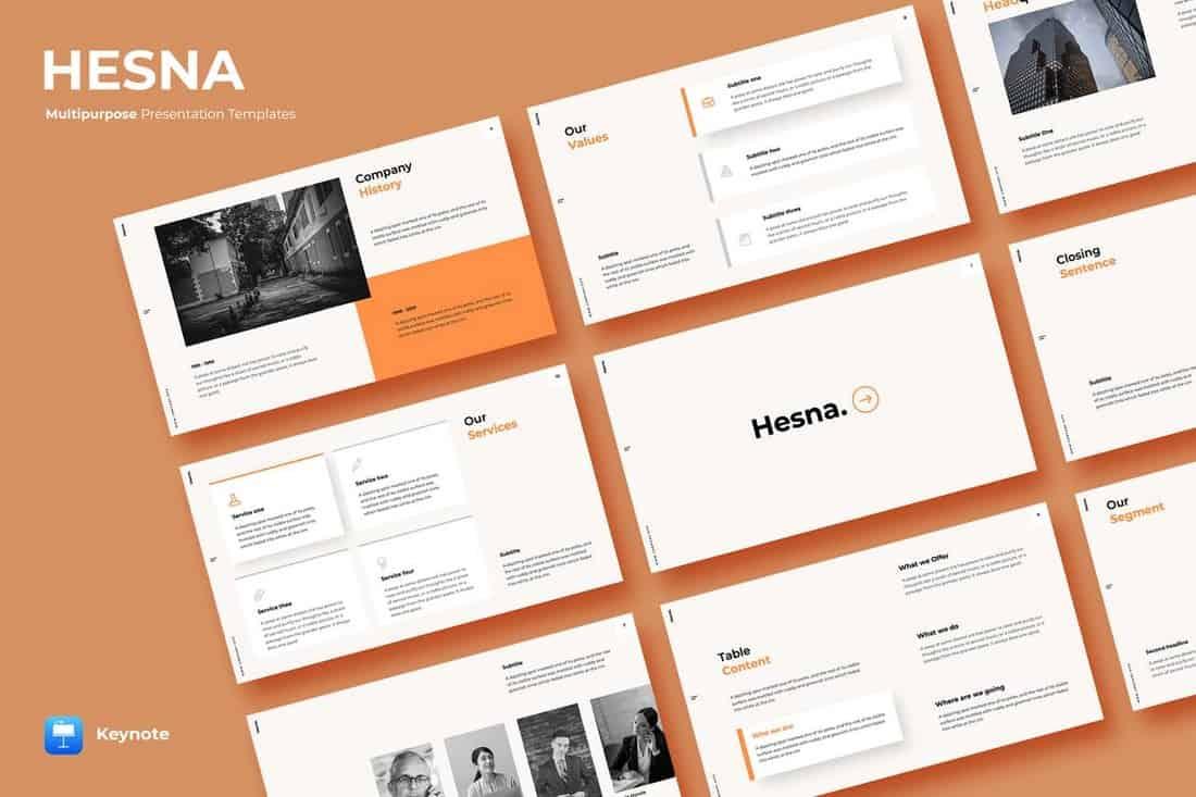 Hesna - Minimal Keynote Template