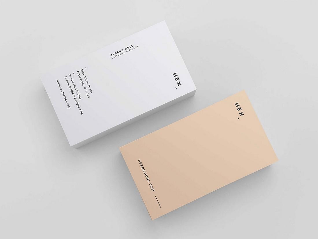 Hex - Free Minimalist Business Card Design