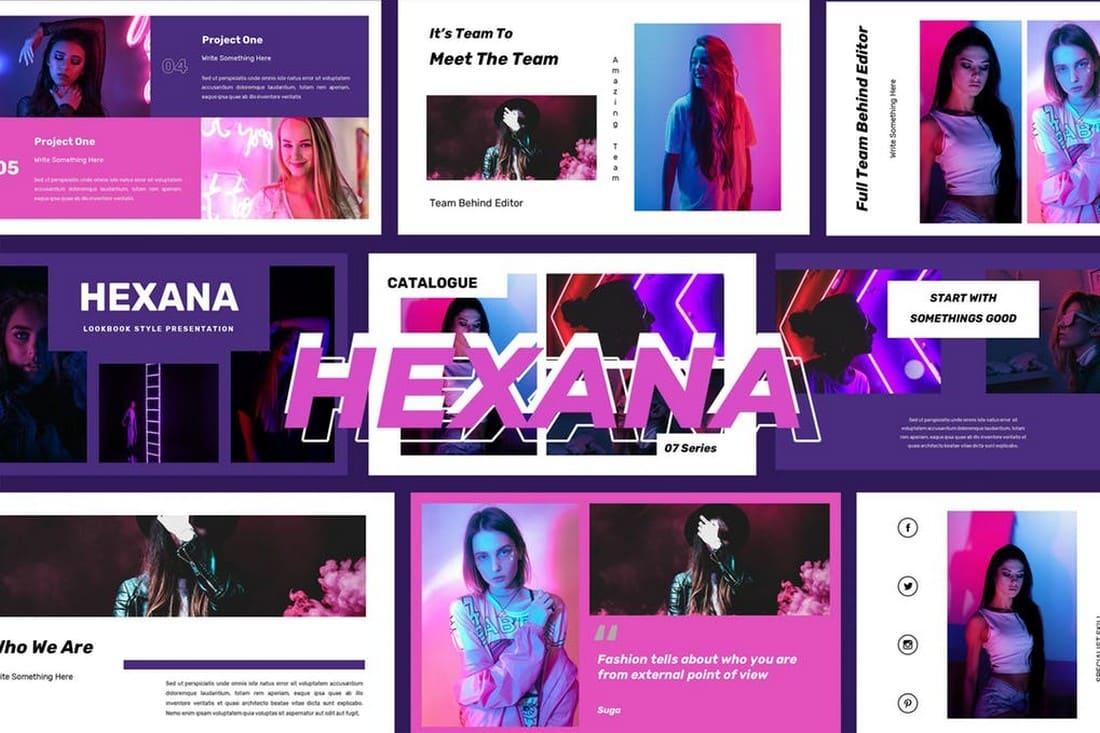 Hexana - Trendy Powerpoint Presentation