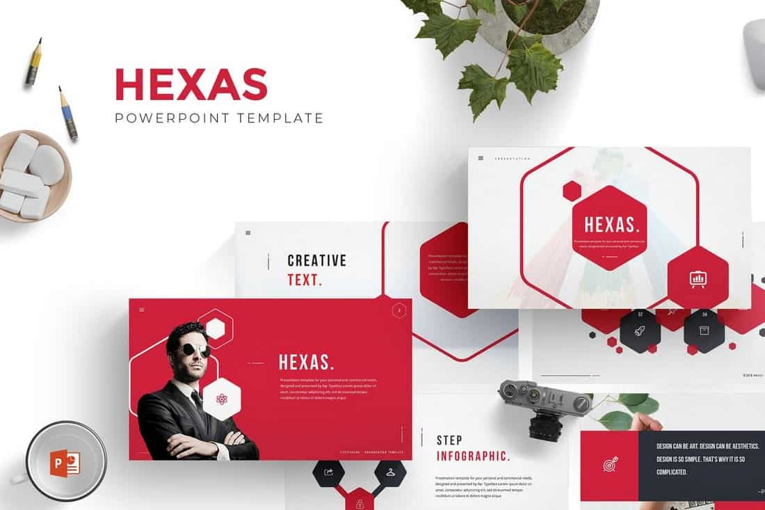 Hexas - Beautiful Powerpoint Template
