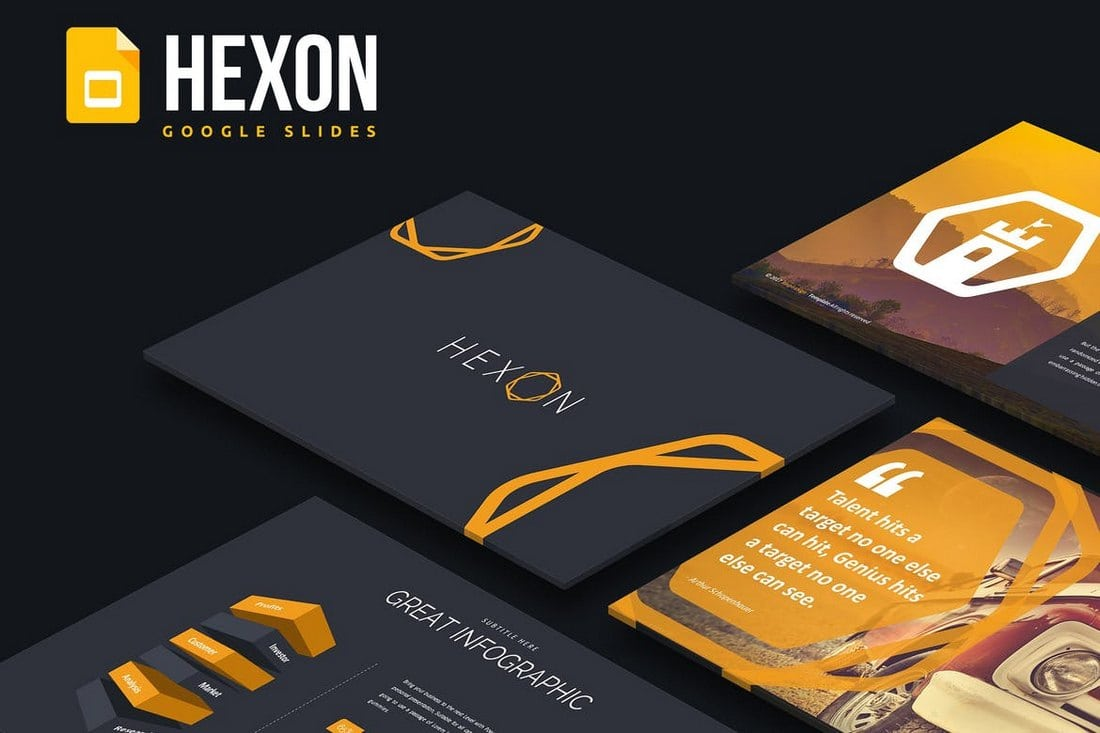 Hexon-Google-Slides-Template 25+ Modern, Premium Google Slides Templates & Themes design tips