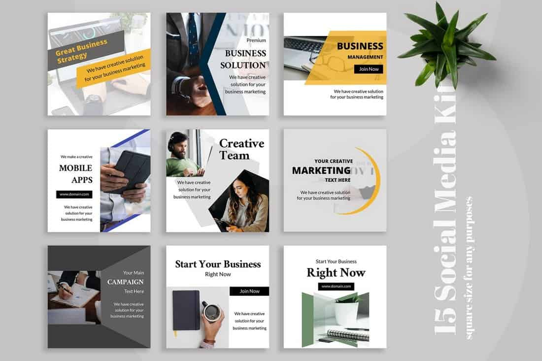 Hexxa - Business Social Media Kit