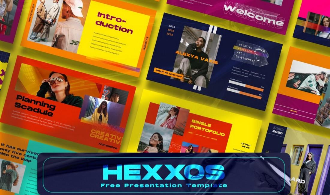 Hexxos - Free Modern PowerPoint Template
