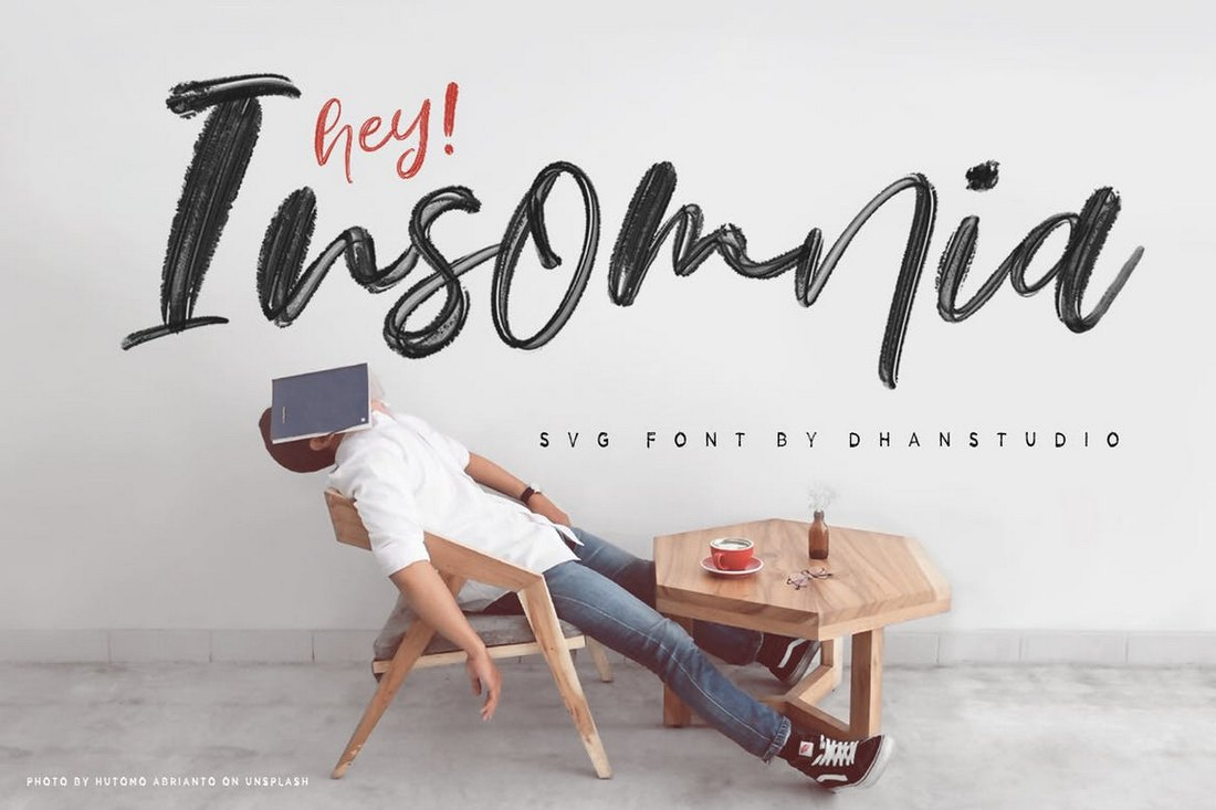 Hey-Insomnia-Script-SVG-Font 100+ Beautiful Script, Brush & Calligraphy Fonts design tips