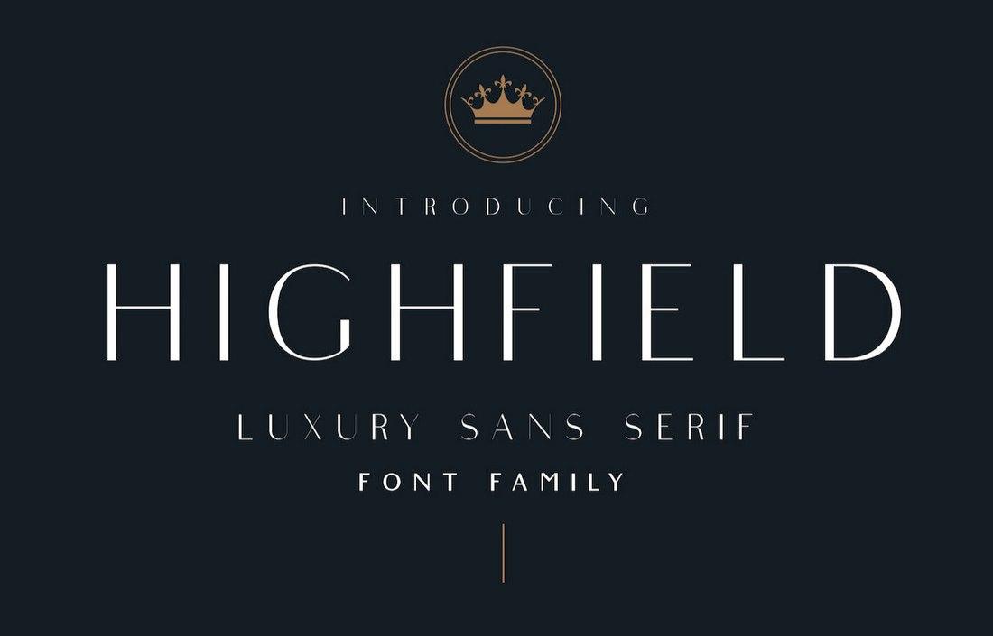 Highfield-Free-Luxury-Sans-Serif-Font 60+ Best Free Fonts for Designers 2020 (Serif, Script & Sans Serif) design tips