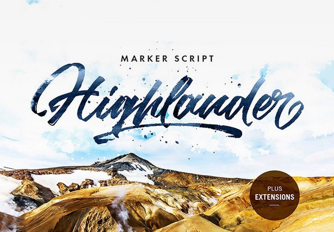 Highlander-Marker-Script-1 60+ Best Free Fonts for Designers 2019 (Serif, Script & Sans Serif) design tips