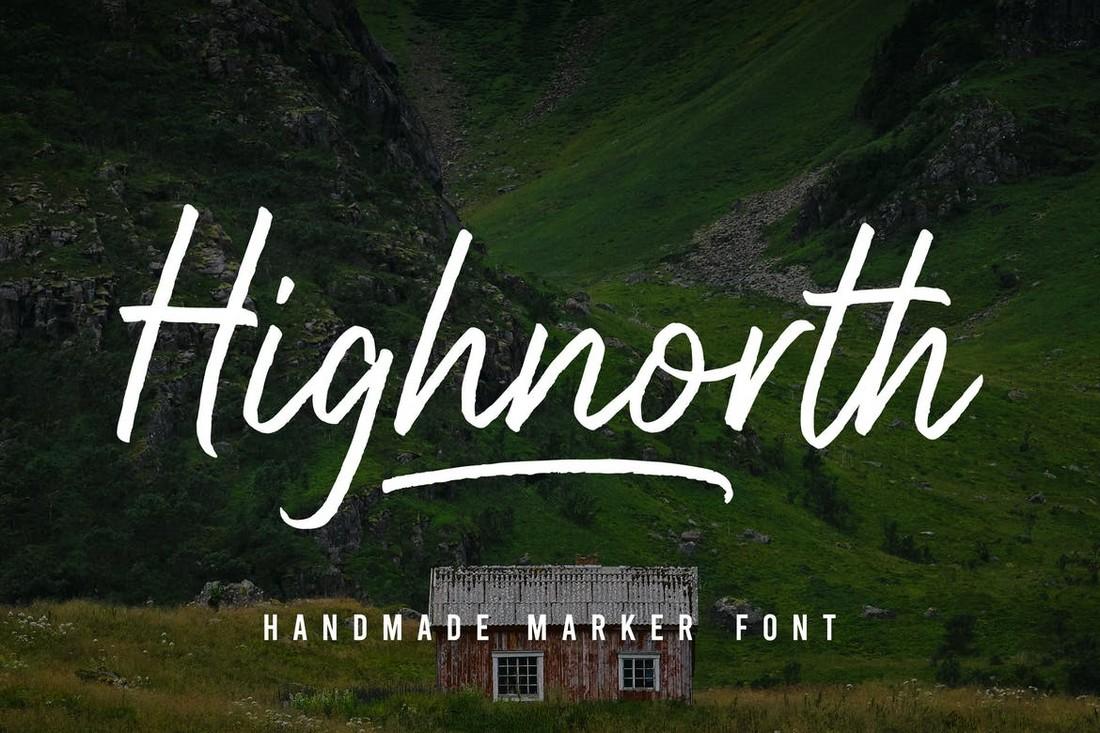 Highnorth - Handmade Marker Font