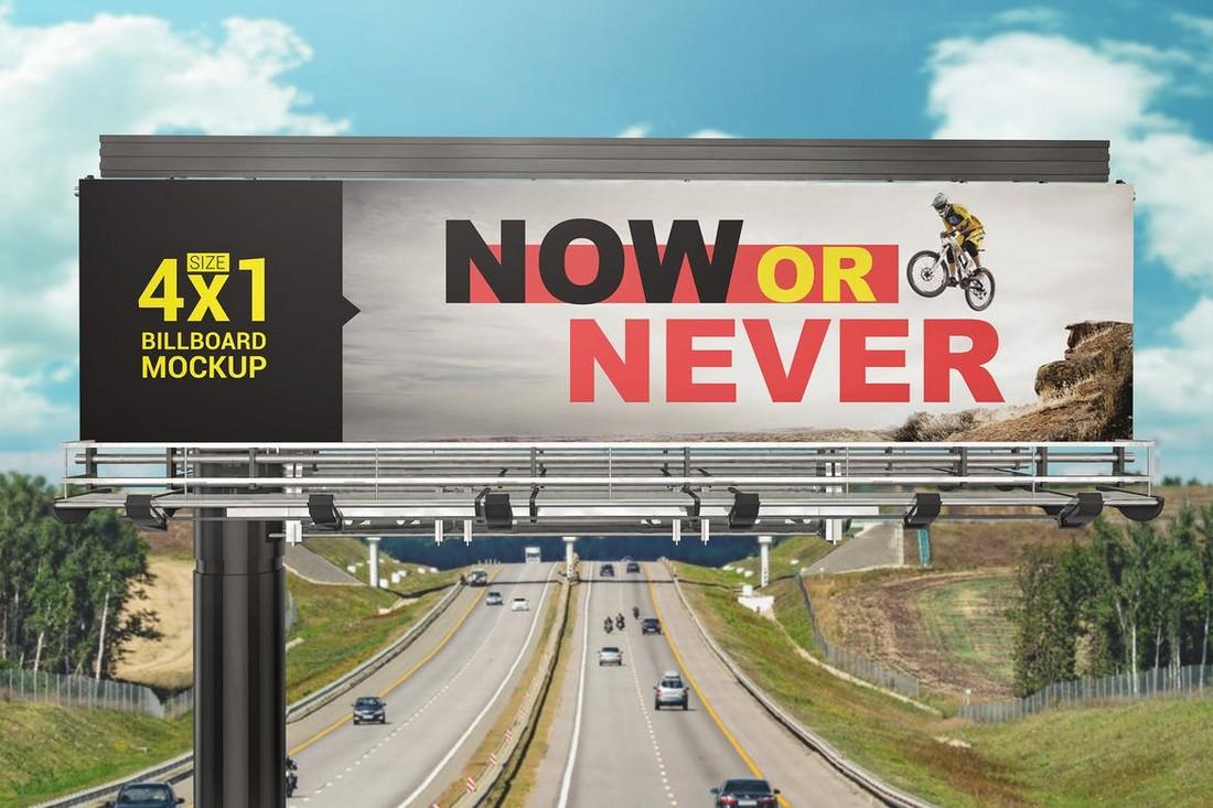 Highway Billboard Mockup Template