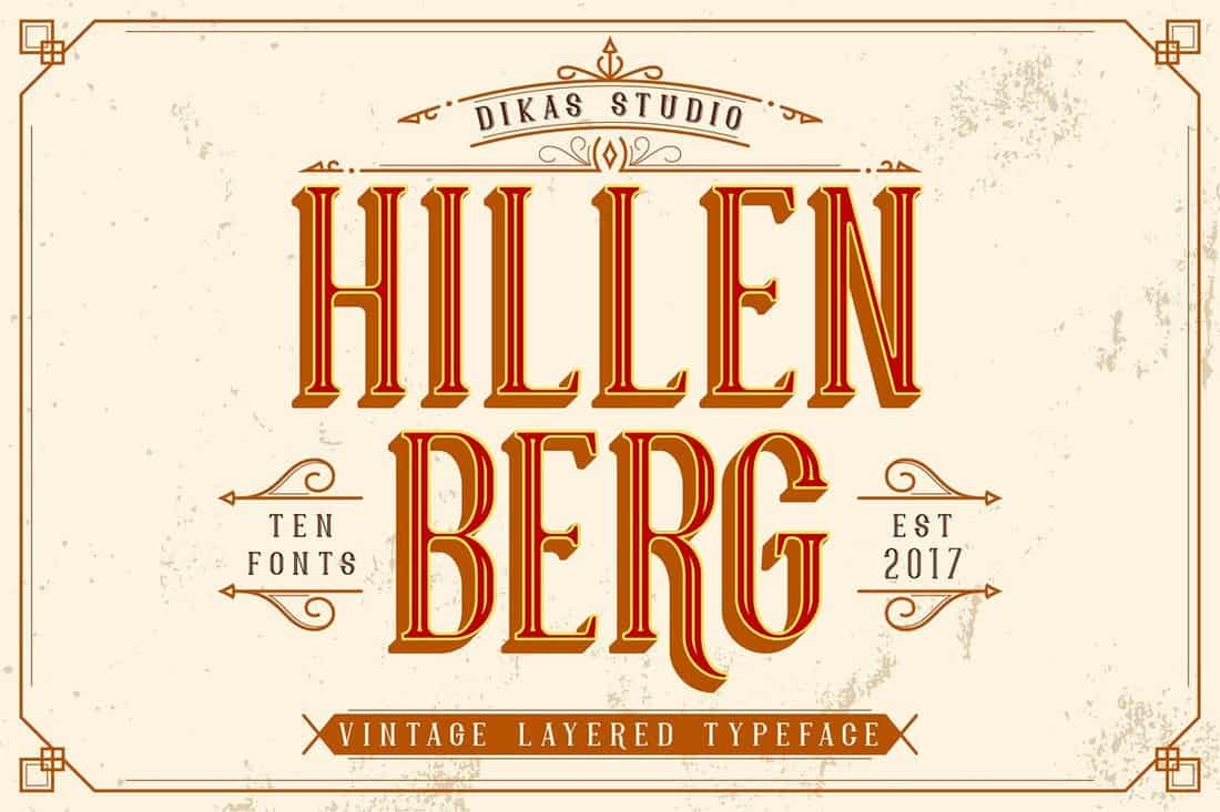Hillenberg - Vintage Fonts Collection