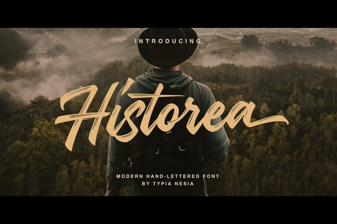 Historea-Modern-Handlettered-Brush-Font 100+ Beautiful Script, Brush & Calligraphy Fonts design tips