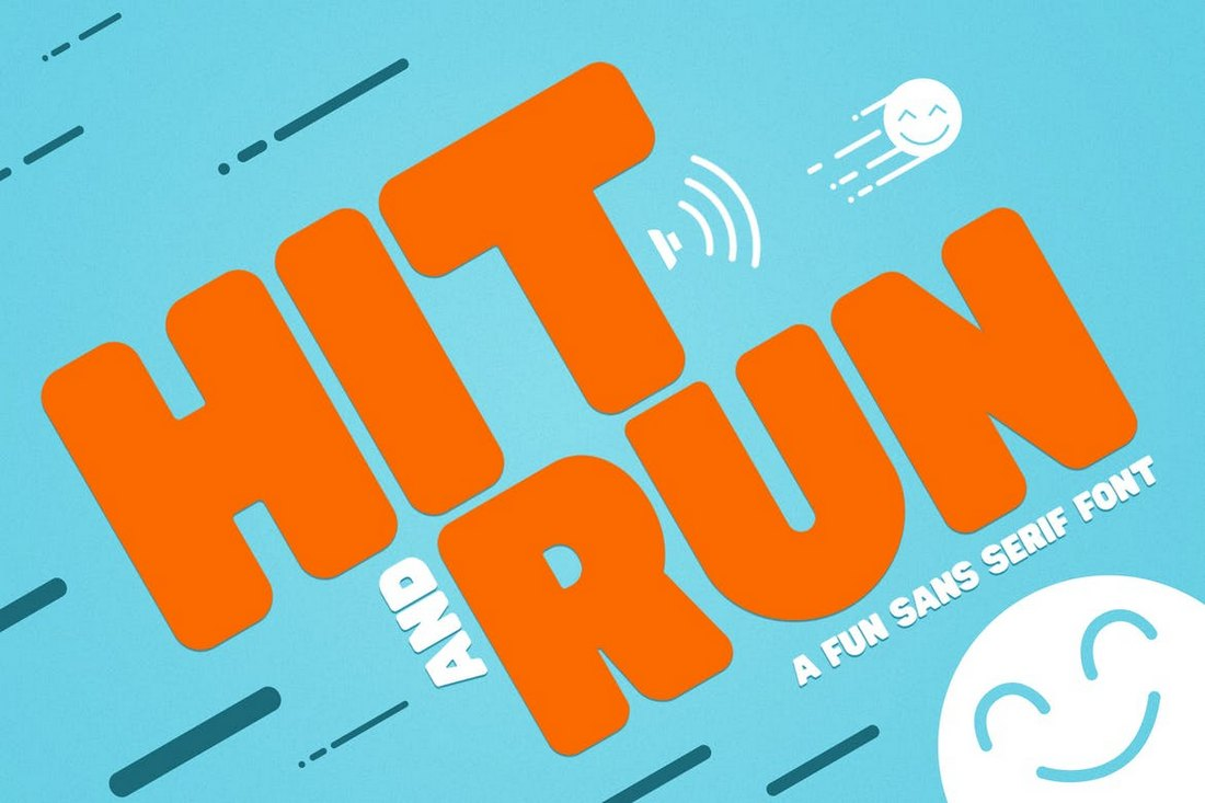 Hit and Run Poster Font