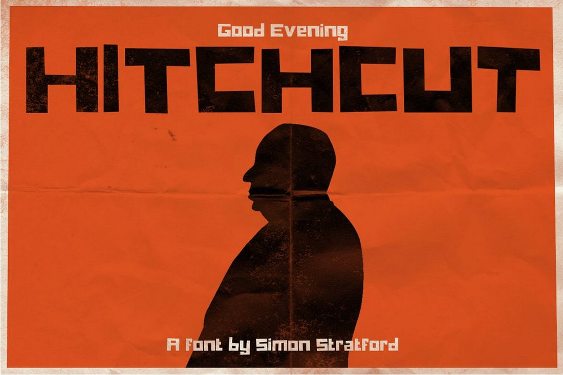 Hitchcut - Vintage YouTube Font