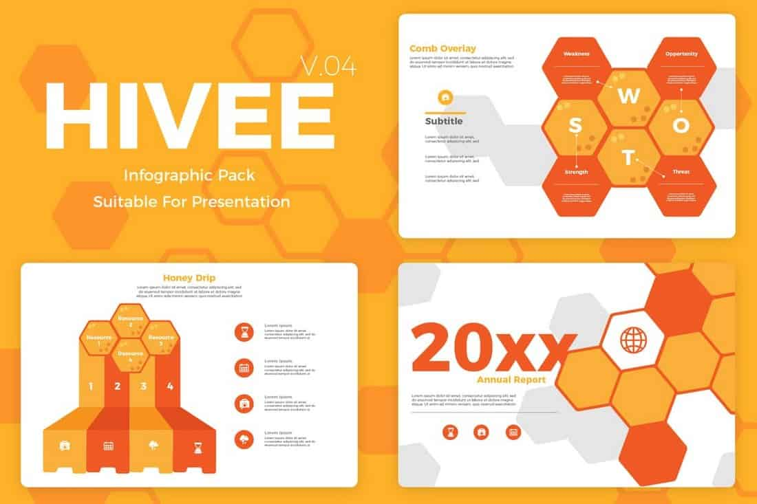 Hivee 4 - Creative Marketing Infographic Templates