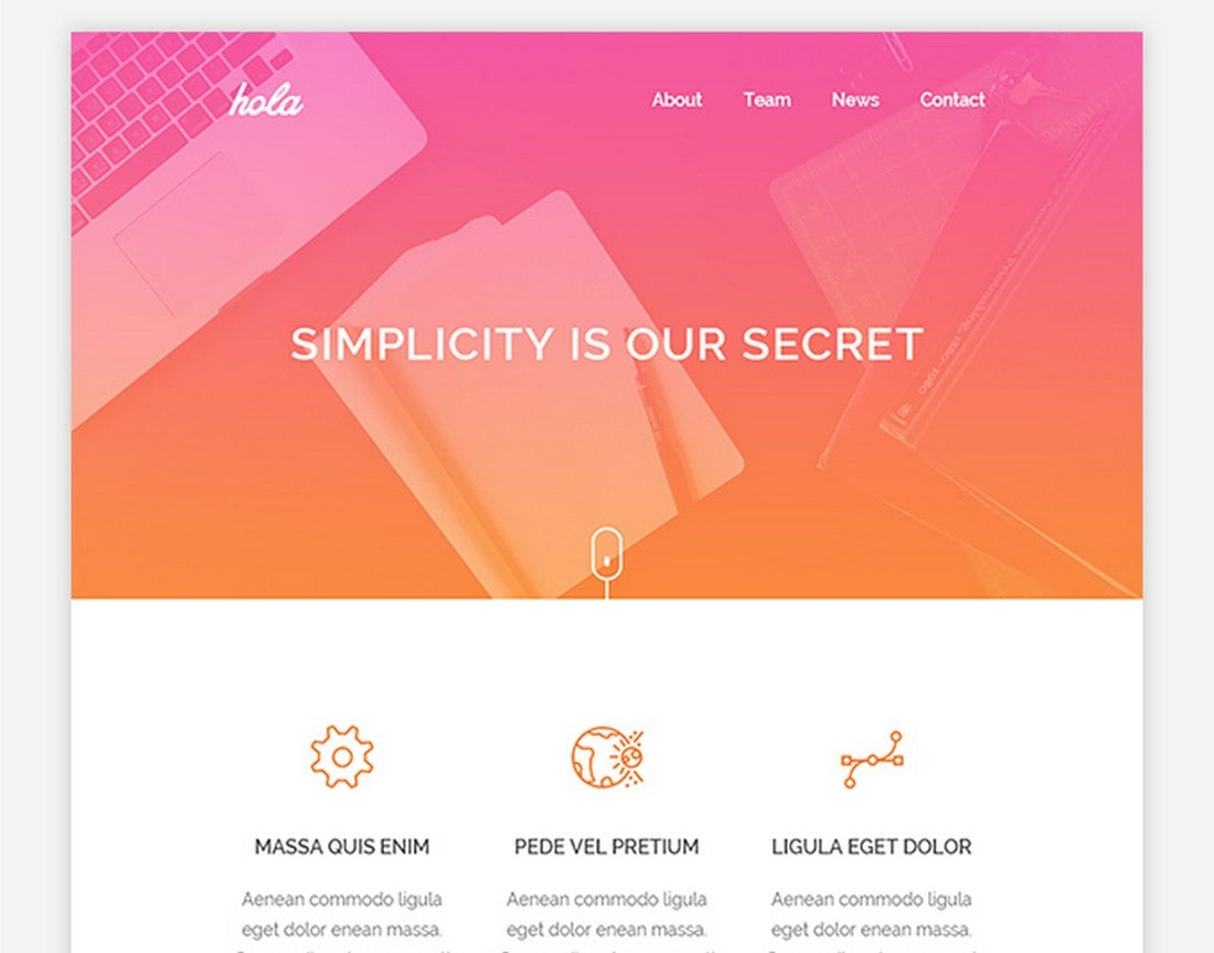 Hola-Free-Email-HTML-Template 40+ Modern Responsive Email Templates 2021 design tips