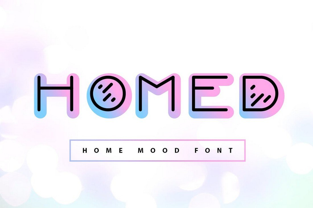 Homed - Moody Color Font