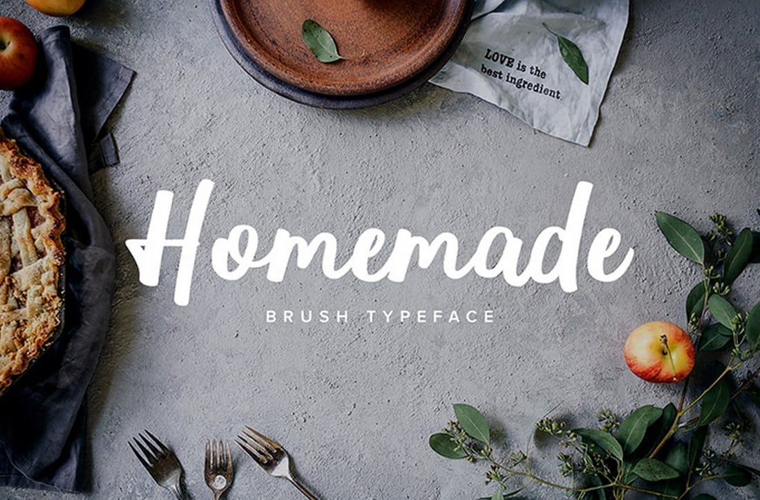 Homemade-Brush-Typeface 60+ Best Free Fonts for Designers 2019 (Serif, Script & Sans Serif) design tips