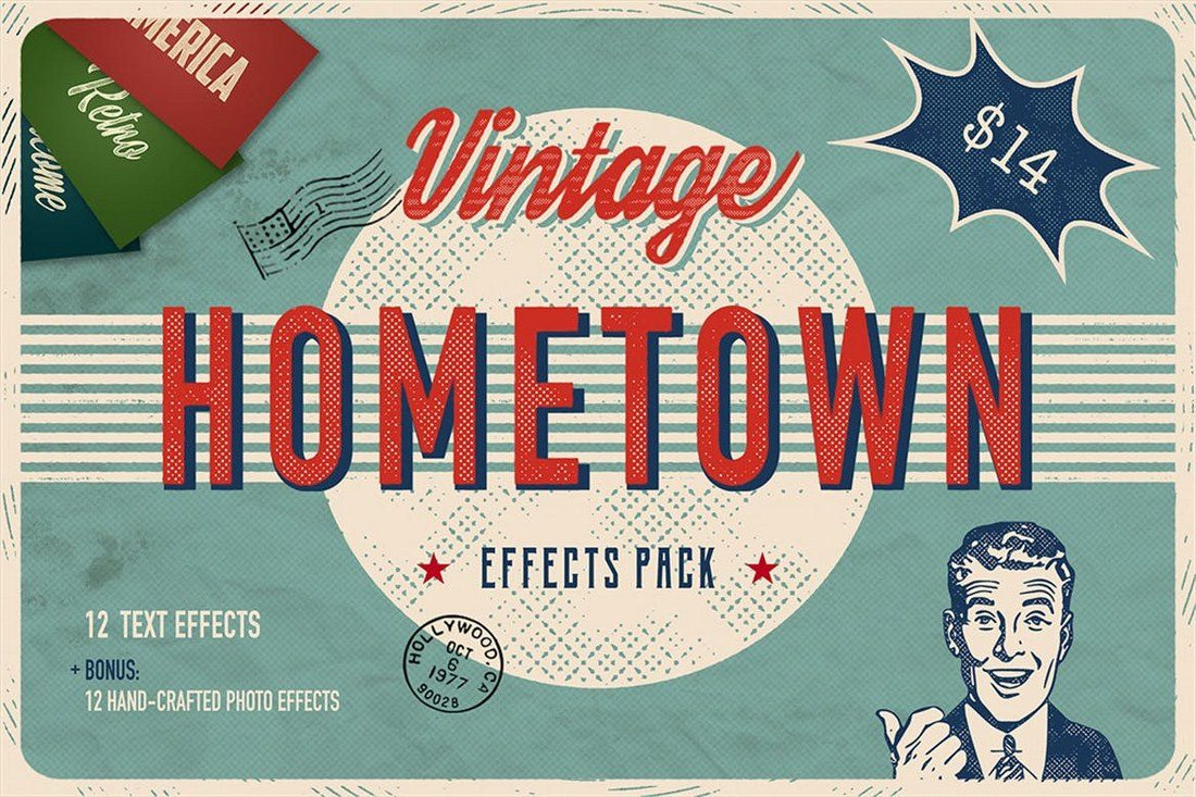 Hometown-Effects-Pack 30+ Best Retro Text Effects & Styles design tips