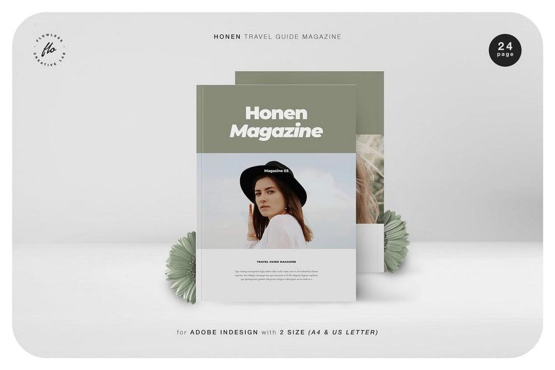 Honen-Travel-Guide-Magazine-InDesign-Template 30+ Best InDesign Magazine Templates 2021 (Free & Premium) design tips