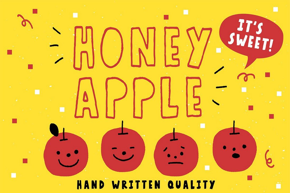 Honey Apple - Creative Handcrafted Free Font