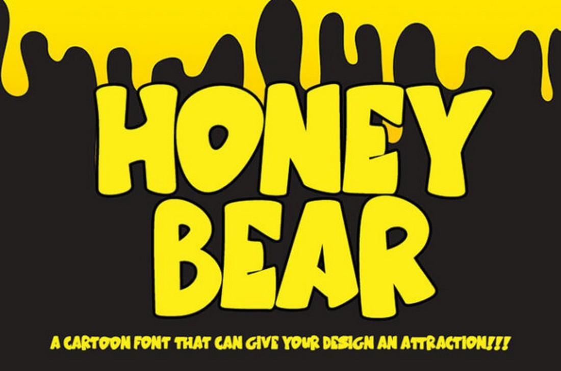 Honey Bear - Free Cartoon Font