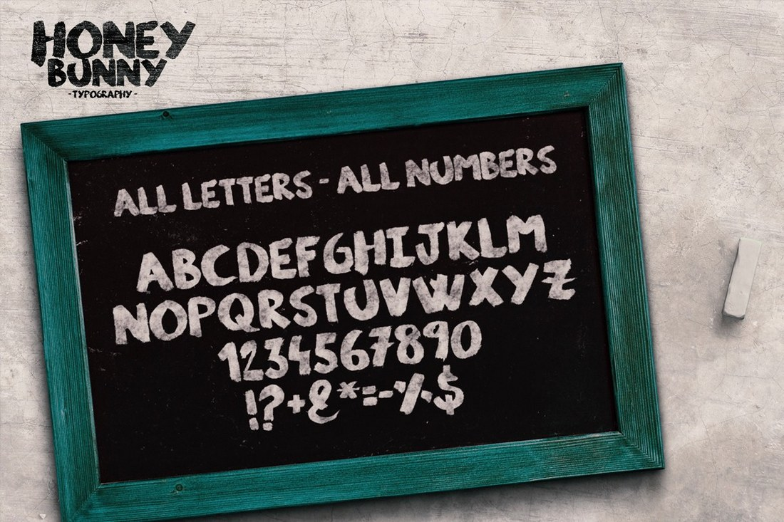 Honey-Bunny-Script-Typeface 40+ Best Number Fonts for Displaying Numbers design tips