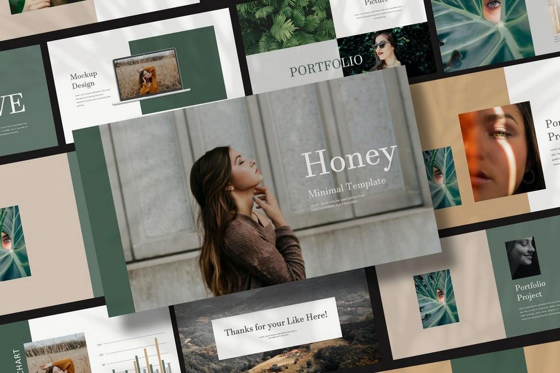 Honey - Fashion Portfolio Powerpoint Template