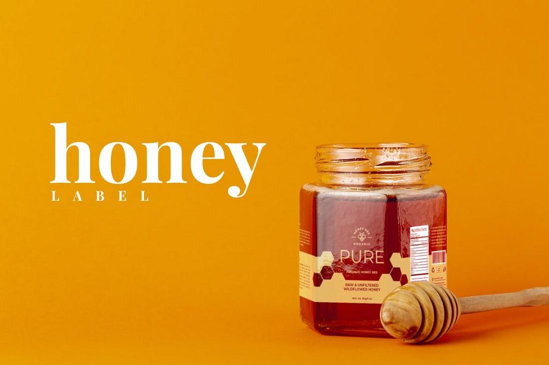 Honey Jar Label Design Template