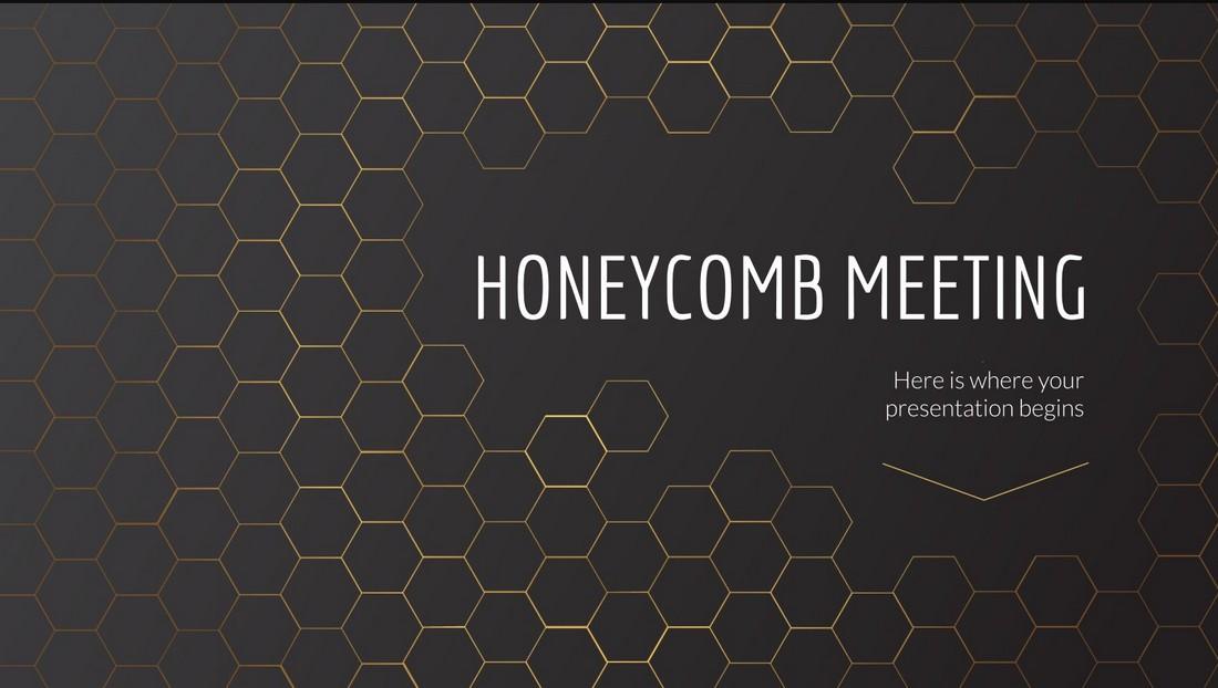 Honeycomb-Free-Online-Meeting-Presentation 20+ Best Webinar PowerPoint Templates (Remote Presentation PPT Slides) design tips