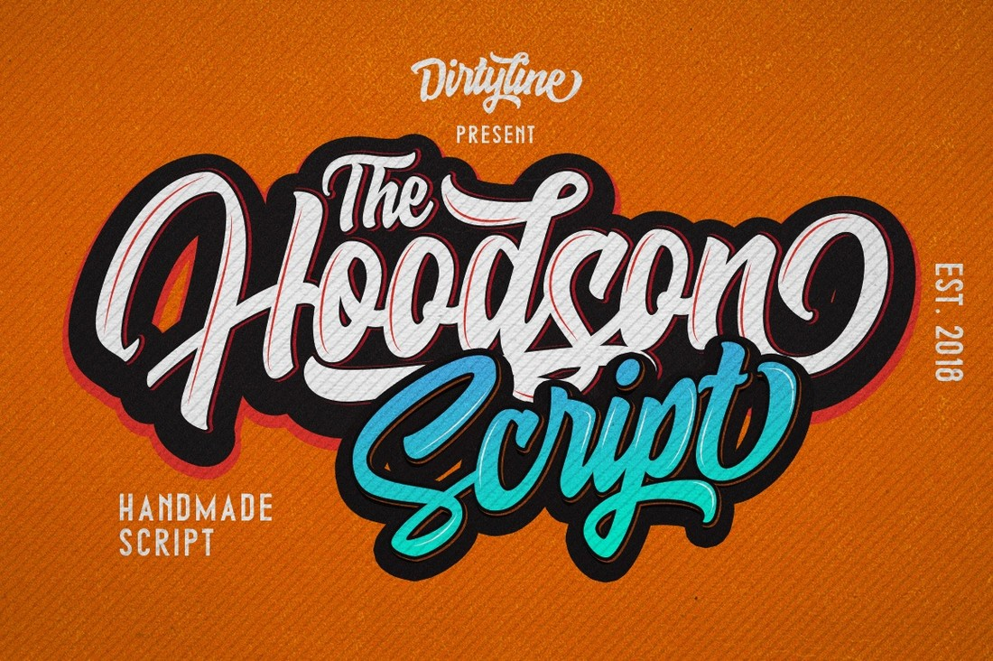 Hoodson-Free-Modern-Script-Font 25+ Free Brush, Script & Hand Lettering Fonts design tips