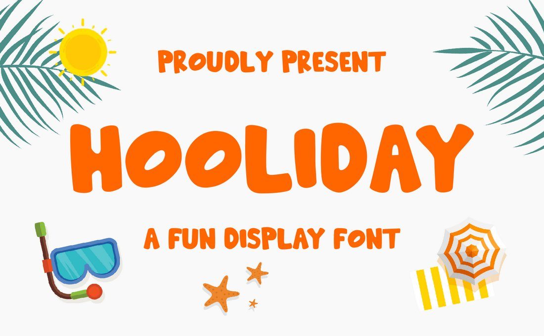 Hooliday - Fun Display Font