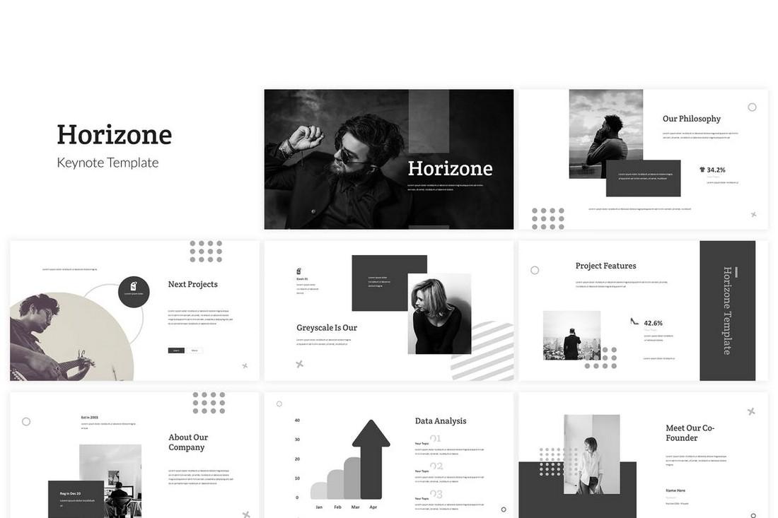 Horizone-Minimal-Keynote-Template 50+ Best Keynote Templates of 2020 design tips  Inspiration|keynote|powerpoint|presentation