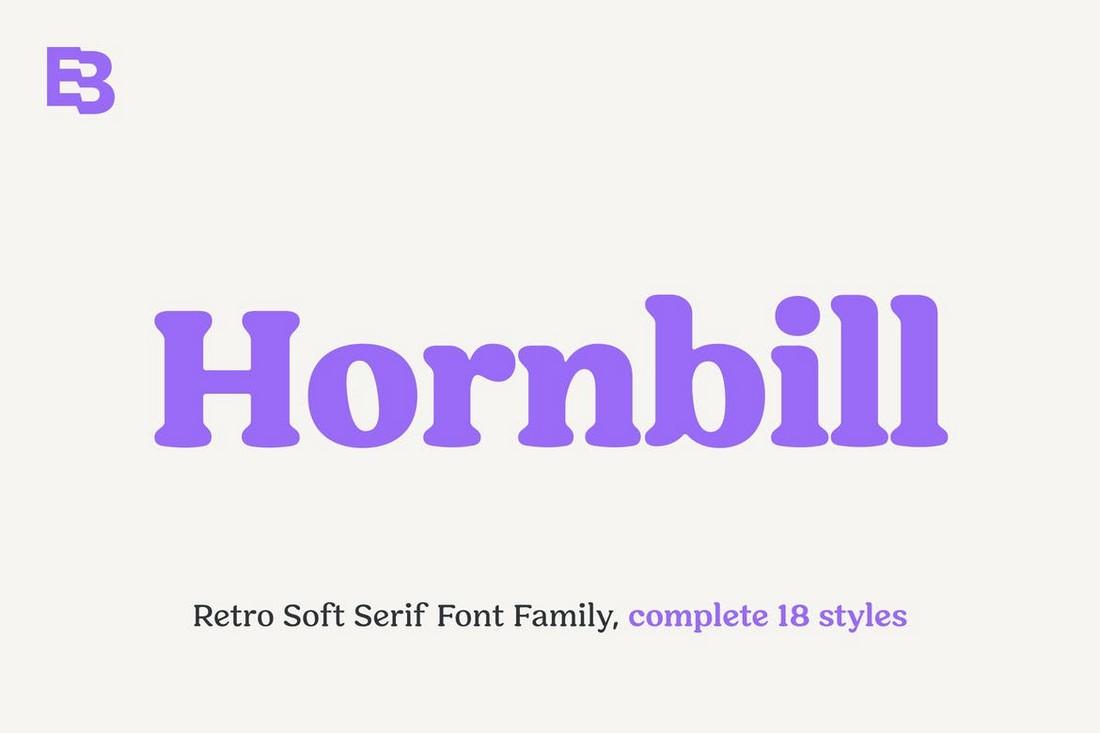 Hornbill - Modern-Retro Font