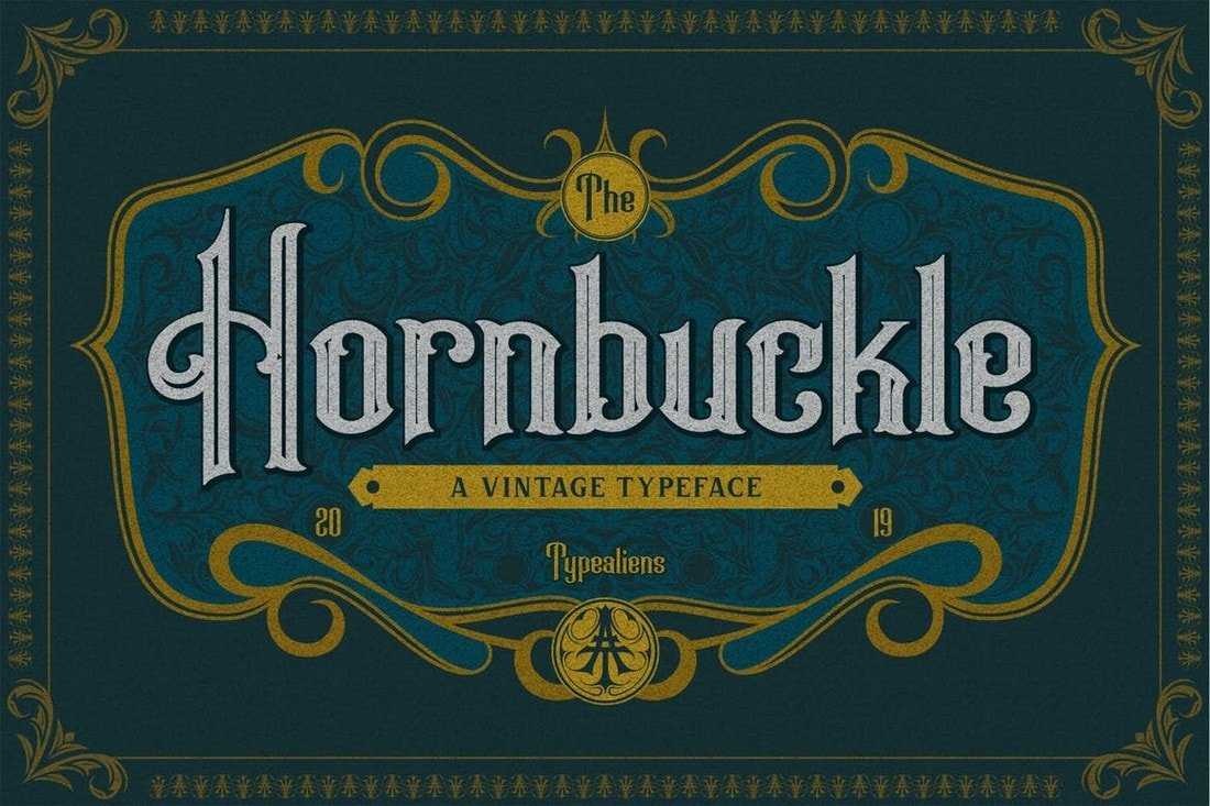 Hornbuckle - Vintage Tattoo Font