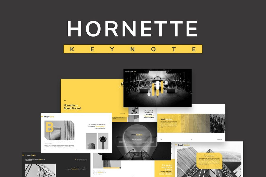 Hornette-Creative-Keynote-Template 30+ Best Minimal & Creative Keynote Templates design tips