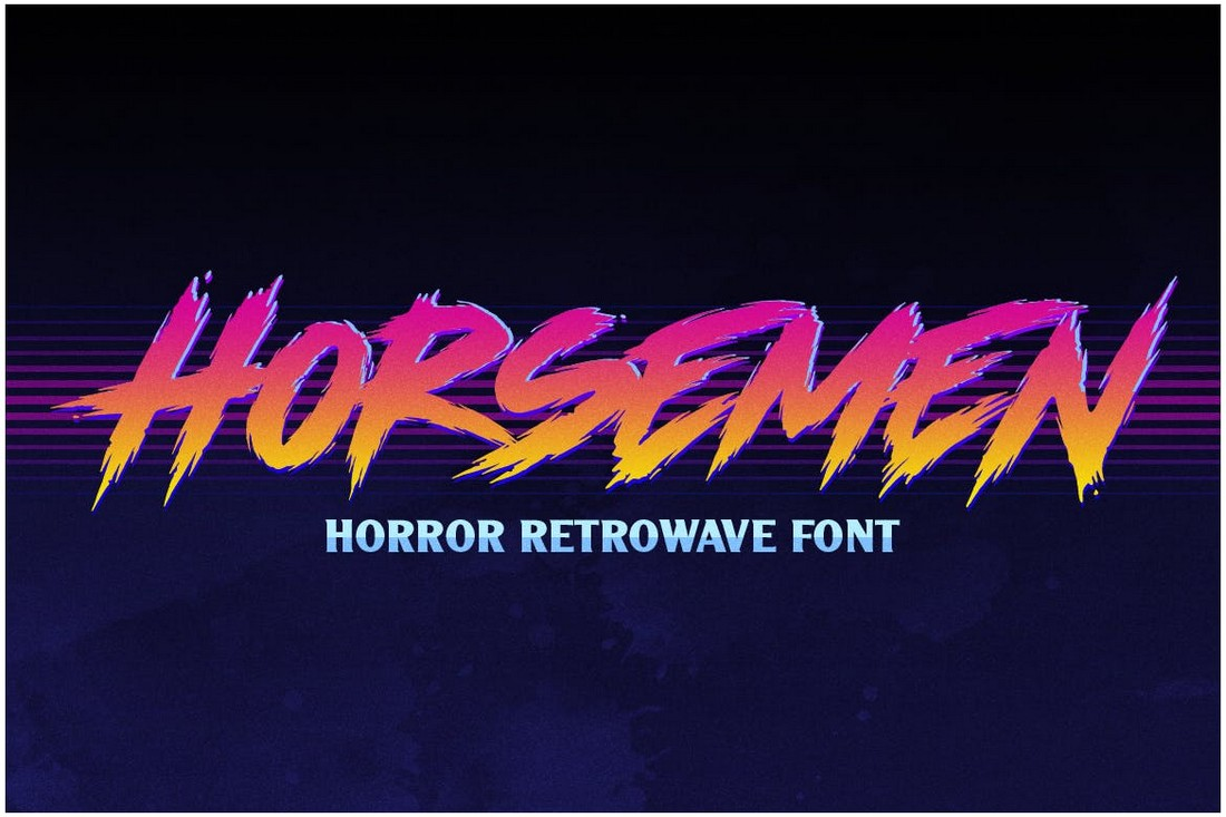Horsemen - Horror Retrowave Font
