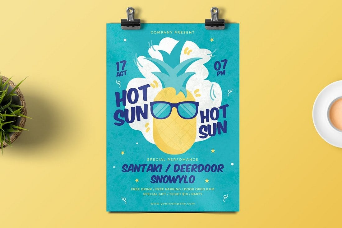 Hot-Sun-Party-Flyer 30+ Best Event Flyer Templates design tips