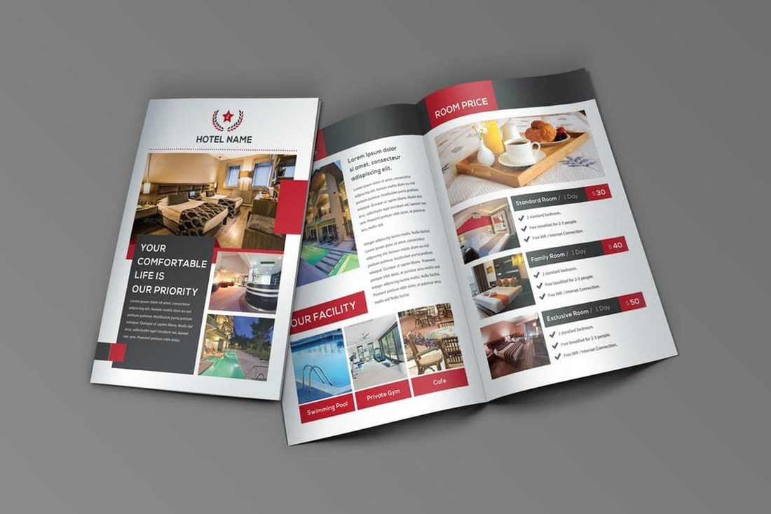 Modern Corporate Brochure Templates Design Shack - Hotel brochure template