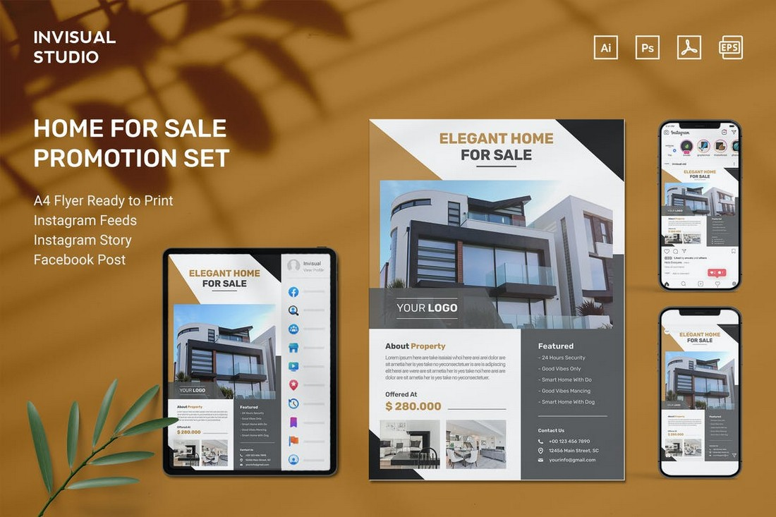 House for Sale Flyer Templates Kit