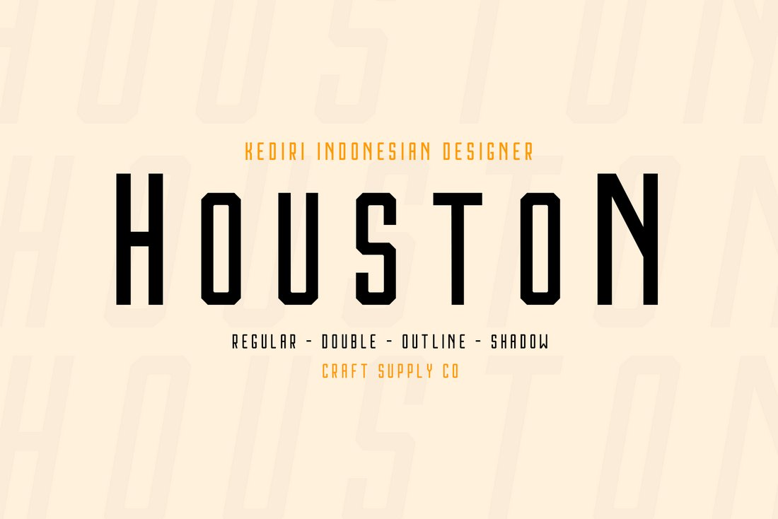 Houston - Free Hand Lettering Font Family