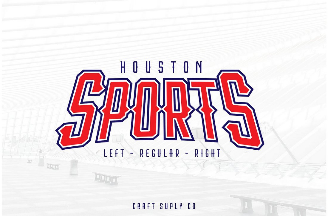 Houston Sports - Free Display Font