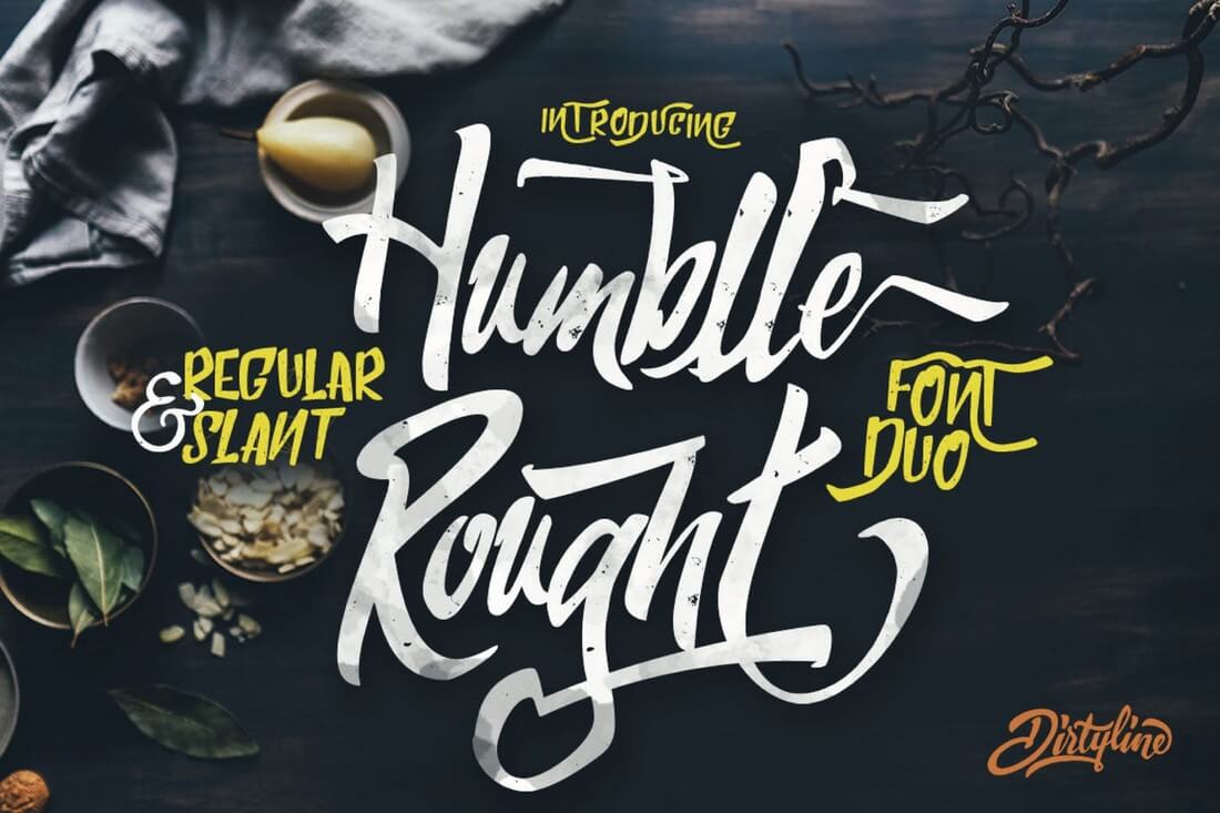 Humblle-Rought 60+ Best Big, Poster Fonts of 2021 design tips