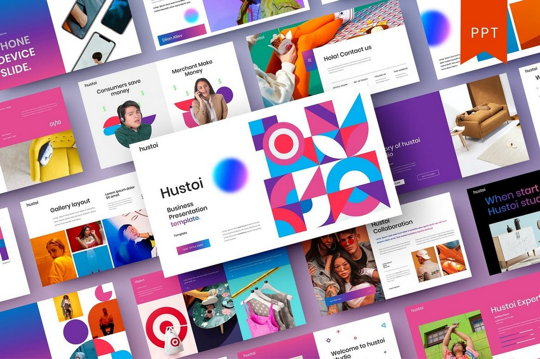 Hustoi – Colorful PowerPoint Template