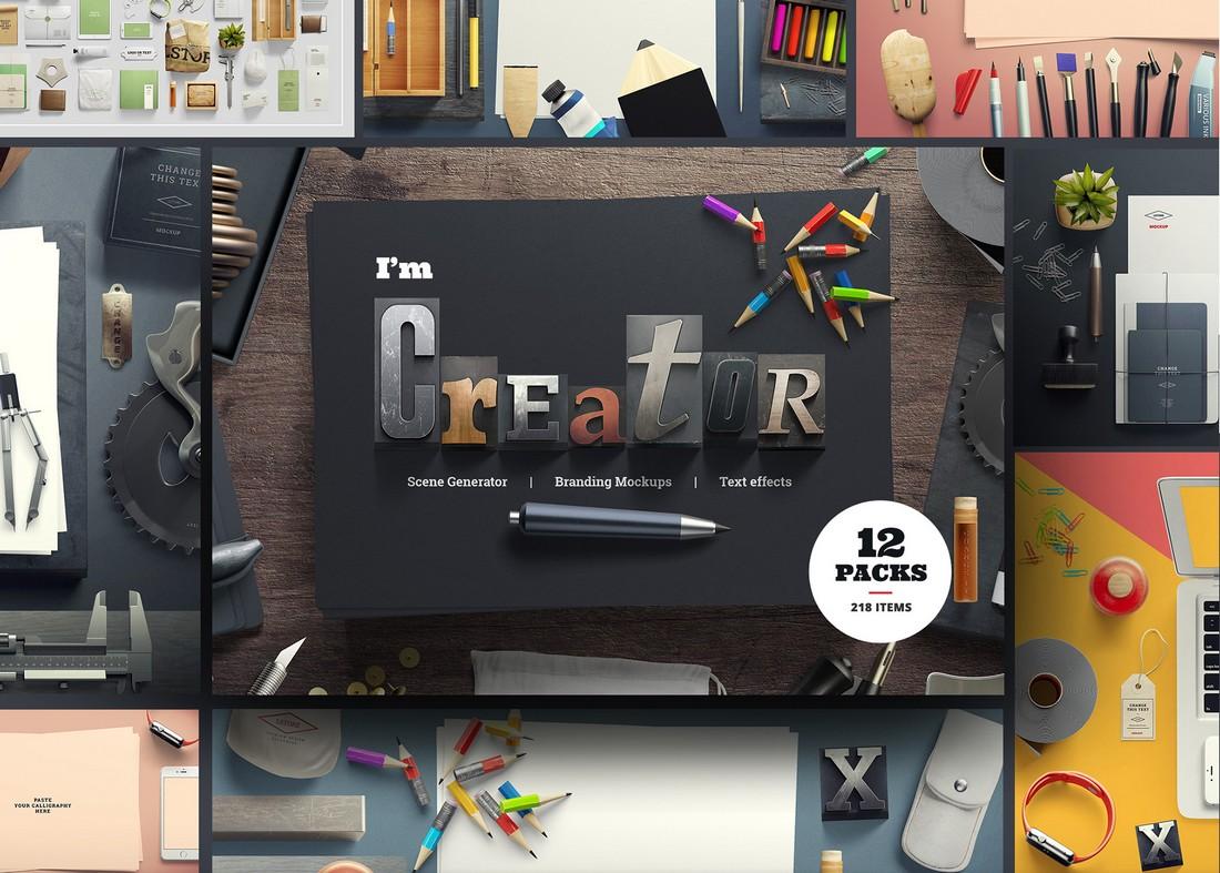 I am Creator - Free Mockup Scene Generator