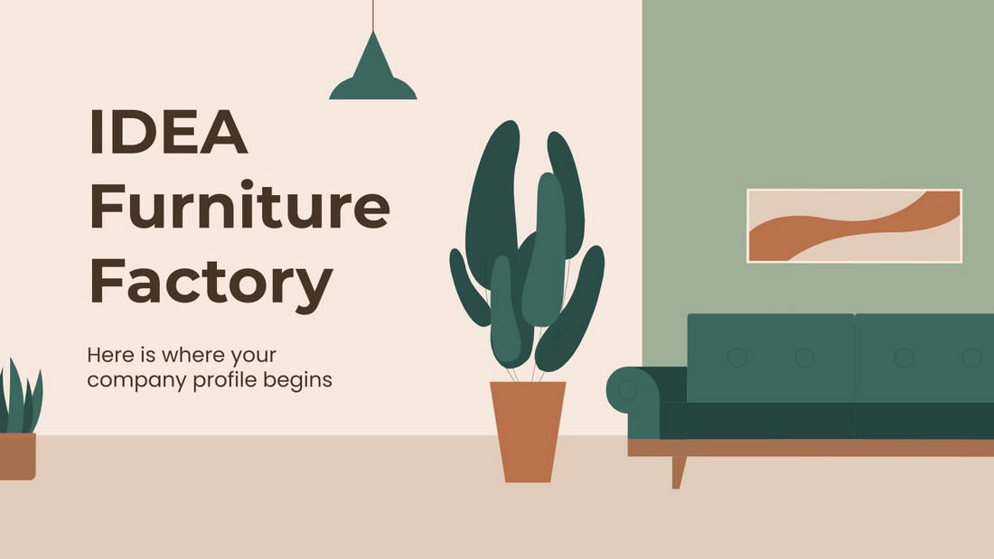 IDEA-Free-Furniture-Factory-Company-Profile 40+ Best Company Profile Templates (Word + PowerPoint) design tips