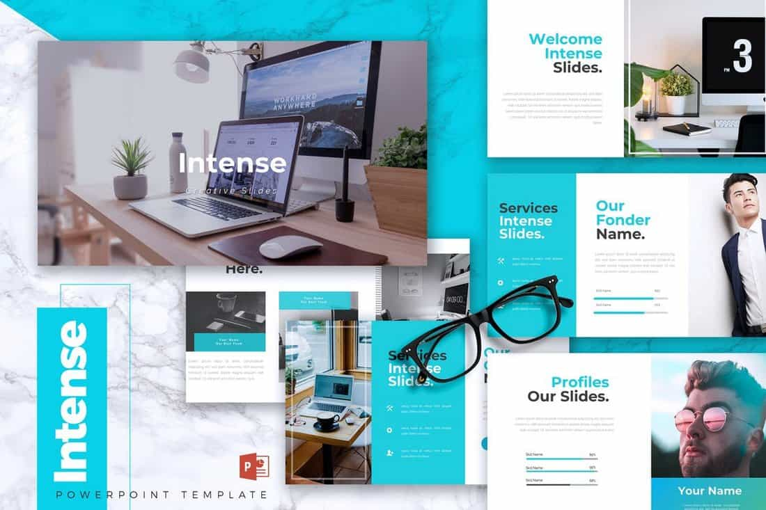 INTENSE - Startup Powerpoint Template