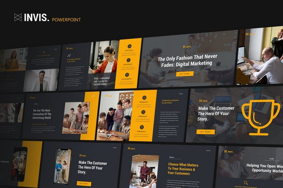 INVIS - Creative Agency Powerpoint Template