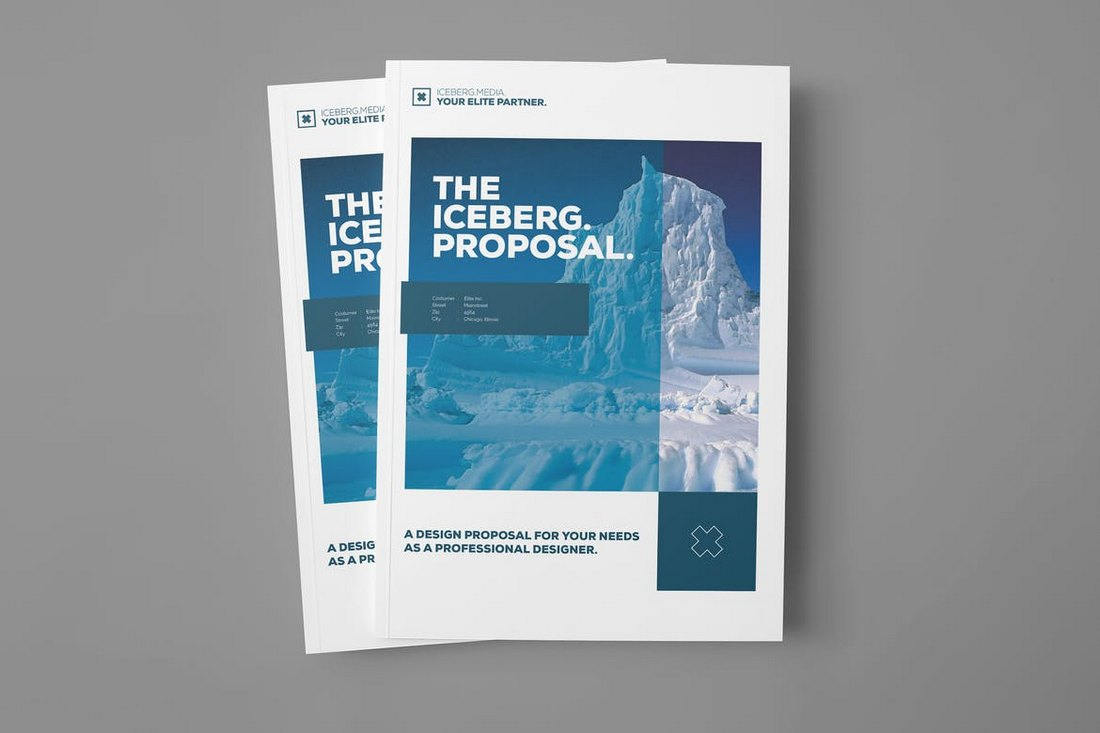 Iceberg-Project-Proposal-Word-Brochure-Template 40+ Best Microsoft Word Brochure Templates 2020 design tips  Inspiration|brochure|templates