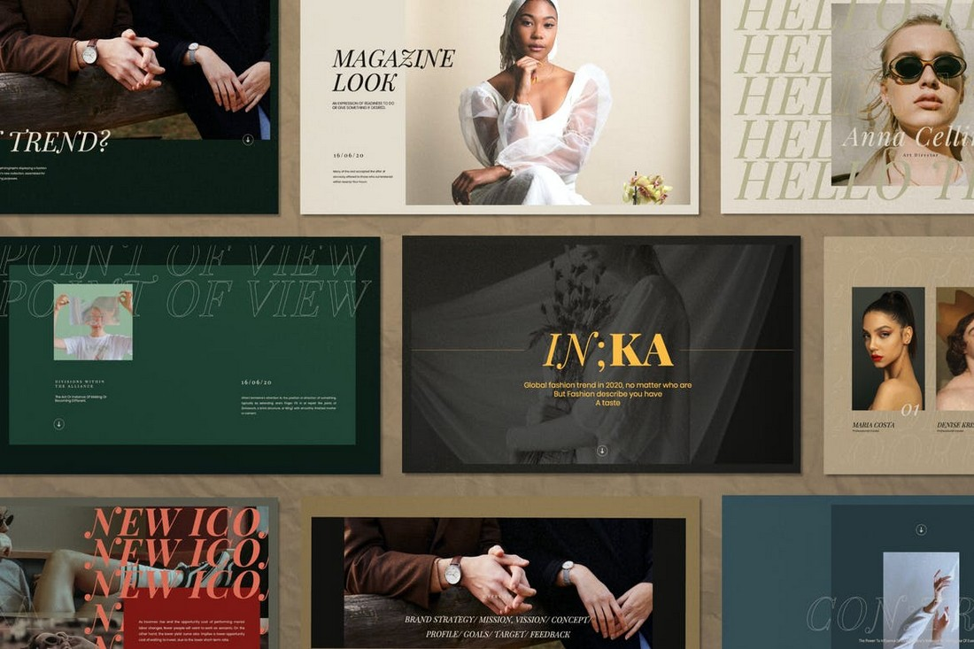 Iconic - Lookbook Fashion Powerpoint Template