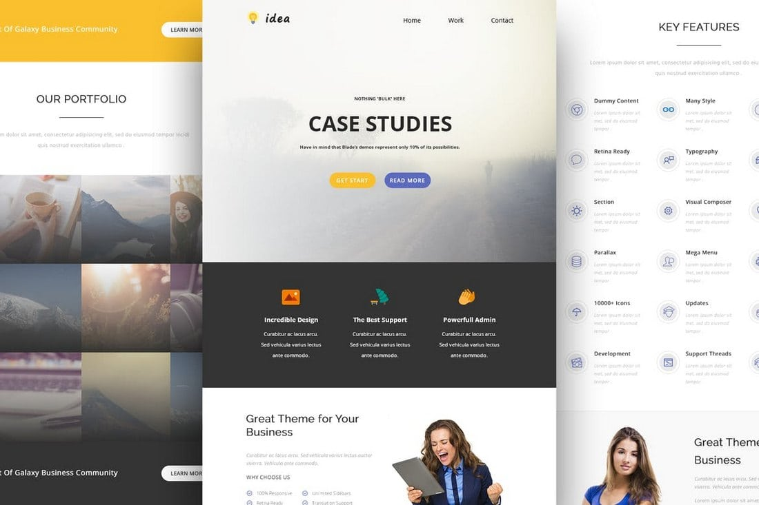 Idea-Responsive-Email-and-Newsletter-Template 40+ Modern Responsive Email Templates 2021 design tips
