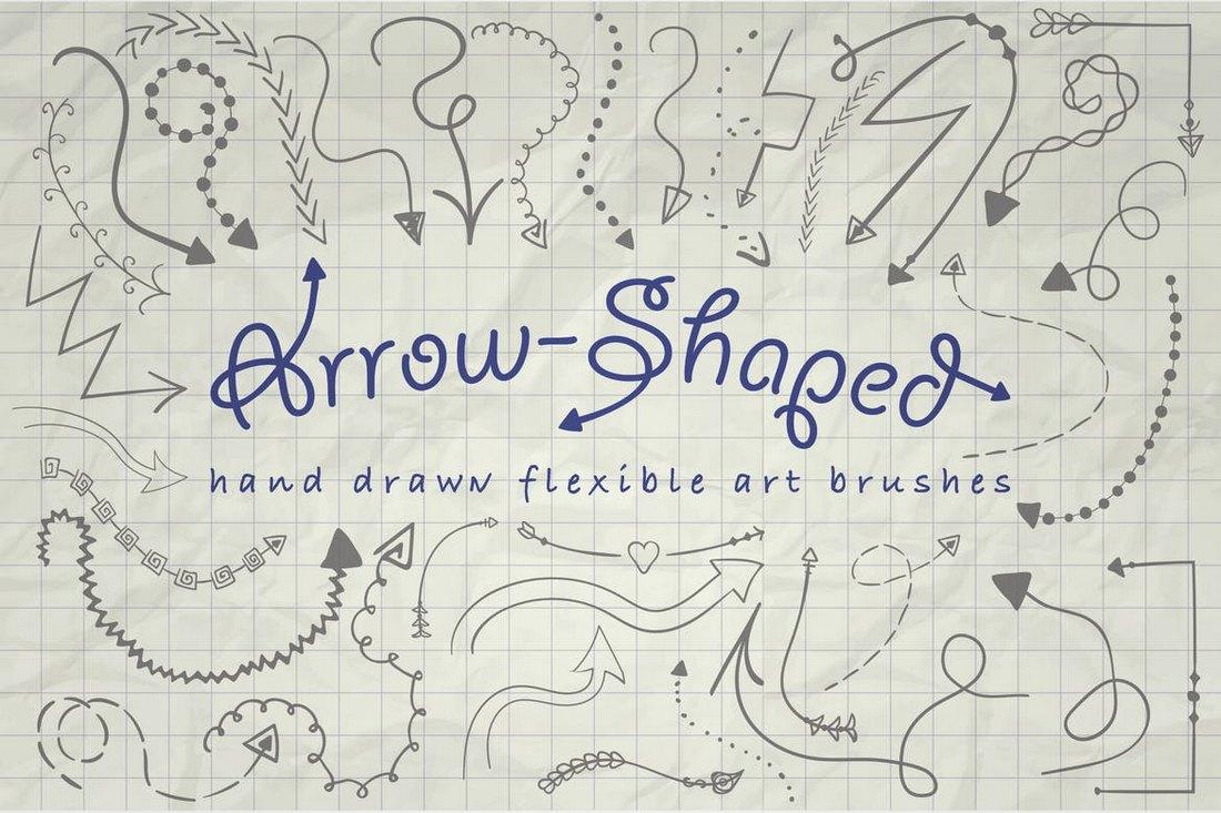Illustrator-Arrow-Shaped-Art-Brushes 30+ Best High-Quality Photoshop & Illustrator Brushes design tips